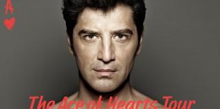 Ο Σάκης Ρουβάς Παρουσιάζει Το Εκρηκτικό Show The Ace Of Hearts Tour! Ένα Μοναδικό Μουσικό Υπερθέαμα Σε Όλη Την Ελλάδα Μαζί Με Τους ONIRAMA, Την Ελένη Φουρέιρα, Τους Boys & Noise Και Την Xenia Ghali