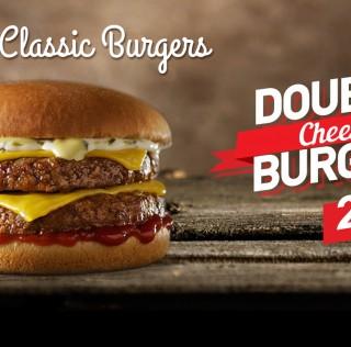 Μόνο στα Goody's: νέο Double Cheese Burger!